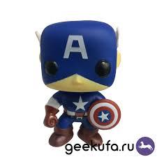Купить <b>фигурка Funko POP</b> 06 Marvel - <b>Captain</b> America 10cm по ...
