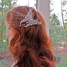 Deco Style Butterfly Bridal Veil, Bandeau Wedding ... - Amazon.com