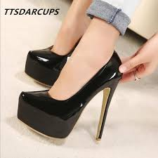 <b>TTSDARCUPS New</b> Women Shoes Platform Heels Super <b>High Heel</b> ...