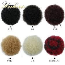 YXCHERISHAIR Clip In Chignon Hair Bun Piece High Temperature ...