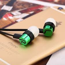 <b>In-ear Earphones Noodle</b> Line for MP4 / MP3 Green Earbud ...