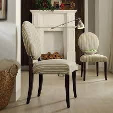 round back dining chairs buy inspire q blanca round back gray striped print fabric dining