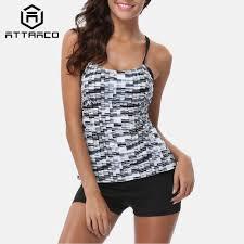 <b>Attraco Tankini Set Women Swimwear</b> Leopard Printed <b>Swimsuits</b> ...