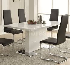 faux leather dining chair black:   coa  blk set
