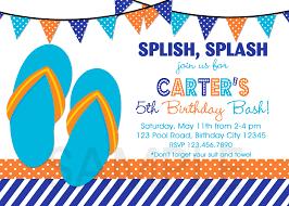 printable birthday party invitations summer themed invite girls birthday invitation