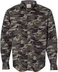 Weatherproof 154622 <b>Men's Vintage</b> Camo Long Sleeve Shirt ...