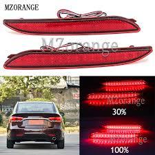 <b>MZORANGE 2PCS LED</b> Tail Rear Bumper Reflector Light <b>Car</b> Truck ...