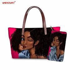<b>WHEREISART</b> Purses and Handbags Set <b>Black Art</b> African Girl ...