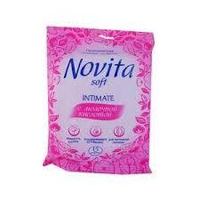 Купить <b>Салфетки</b> влажные <b>для интимной гигиены</b> «<b>Novita</b>» - С ...