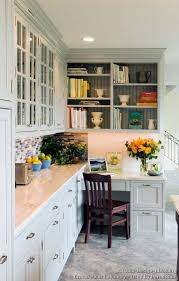 kitchen cabinets home office transitional: beautiful kitchen desk transitional kitchen design with shaker style cabinets