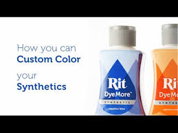 How to Dye <b>Polyester</b>, Synthetics and Plastic with Rit DyeMore ...