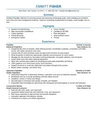 best pipefitter resume example livecareer create my resume