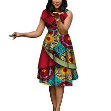 <b>New Fashion</b> African Dresses for Women <b>Sexy</b> Sleeveless Bazin ...