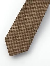 <b>Men's</b> Waved Tortilla Brown <b>100</b>% <b>Silk Tie</b> – Karako Suits