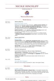 waitress resume samples   visualcv resume samples databasewaitress barista resume samples