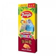 <b>Happy Jungle палочки для</b> птиц мёд+орехи, 3 шт