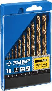 <b>Набор сверл</b> по металлу 10 шт (d1-10 мм), КОБАЛЬТ, сталь ...