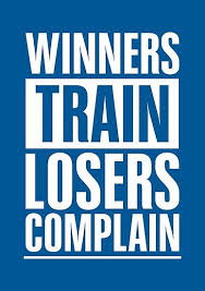 """""""<b>Winners Train Losers</b> Complain Inspirational Quote"""" Poster by ..."""