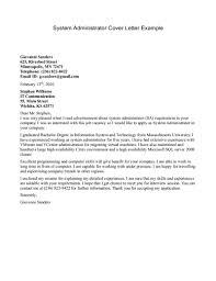 cover letter sample for job application
