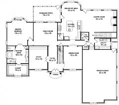 Story French Style Floor Plan   Bedrooms   House    First Floor