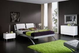 wonderful modern grey interior bedroom decoration with modern bed furniture ideas also beautiful green area rug on top of wooden floor design and beautiful bedroom furniture beautiful painting white color