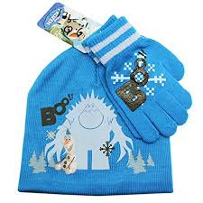 Disney's <b>Frozen Olaf</b> In Front of a Yheti Blue Colored Hat and Glove ...