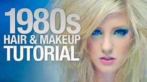 1980 39 s hair makeup tutorial