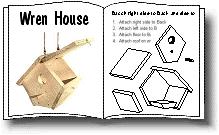 House Wren    and Brown Wren House Plans