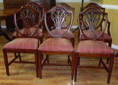 hepplewhite shield dining chairs set:  mahogany shield back dining chairs hepplewhite style upholstered hepplewhite unknown
