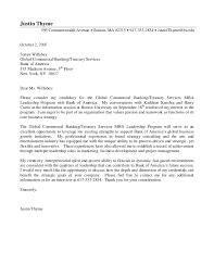 Cover Letter Banking Internship