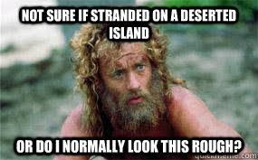 Not sure if stranded on a deserted island or studying for the MCAT ... via Relatably.com
