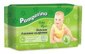 <b>Влажные салфетки Pamperino</b> Детские с экстрактом алоэ вера ...