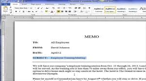 creating a block style business memo creating a block style business memo