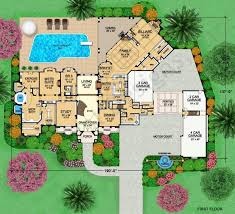 Versailles House Plans   Home Plans By Archival DesignsVersailles House Plan   Tuscan   First Floor