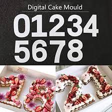 Cake Mould DIY Baking 0-8 Number Cake Mold Letter ... - Amazon.com