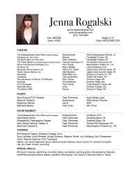 resume jenna rogalski choreography resume