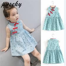 Puseky Fashion 1 6Y <b>Summer Kids</b> Baby <b>Girls Dresses</b> Chinese ...