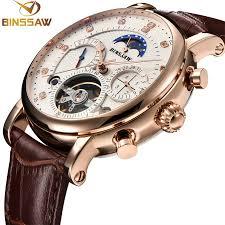 <b>BINSSAW Men</b> Watch Mechanical Tourbillon <b>Luxury</b> Fashion <b>Brand</b> ...