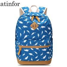 Бренд atinfor, женский <b>рюкзак</b> с принтом в виде перьев, школьная ...