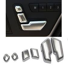 <b>6PCS</b> Matt <b>Chrome</b> Door Seat Adjust Buttons Switch for Mercedes ...