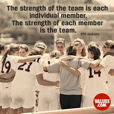 the strength of the team is each individual member the strength your