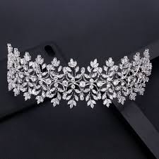 jankelly <b>Fashion Ladies Wedding</b> Headpieces With cube <b>zircon</b> ...