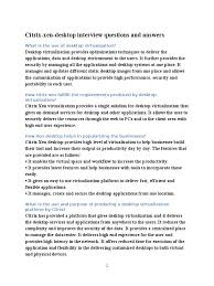 citrix xen desktop interview questions and answers citrix systems