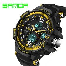 <b>SANDA top brand luxury</b> sports watch fashion military watch men ...