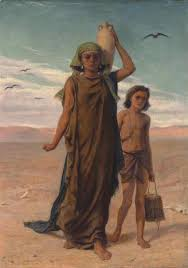 Hagar and Ishmael cast out the bondwoman