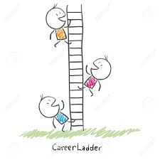 business people climbing up the corporate ladder conceptual business people climbing up the corporate ladder conceptual illustration of career stock vector 14134359