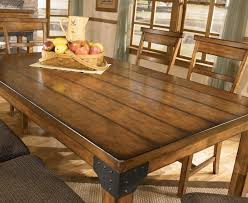 natural wood dining table room design