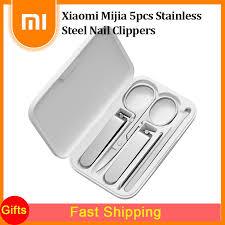 <b>Xiaomi Mijia 5pcs Stainless</b> Steel Nail Clippers Set Beauty Scissors ...