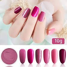 6 <b>Box</b>/Set <b>Fine</b> Dipping Powder Rose Pink Colors No Need Lamp ...