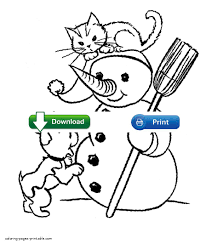 Small Picture Cute Dog And Cat Coloring Pages Coloring Coloring Pages